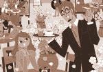太中トシヤのオリジナルイラスト/花見・カフェ・紅葉狩りなど