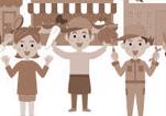 太中トシヤの仕事/自営業者や小売り主、個人商店のイラスト