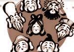 太中トシヤの仕事/年賀状の素材本のイラスト